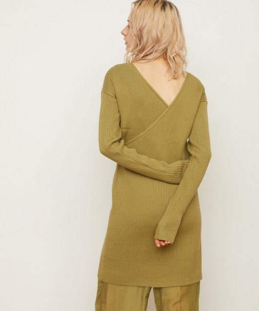 Rib Asymmetry Dress