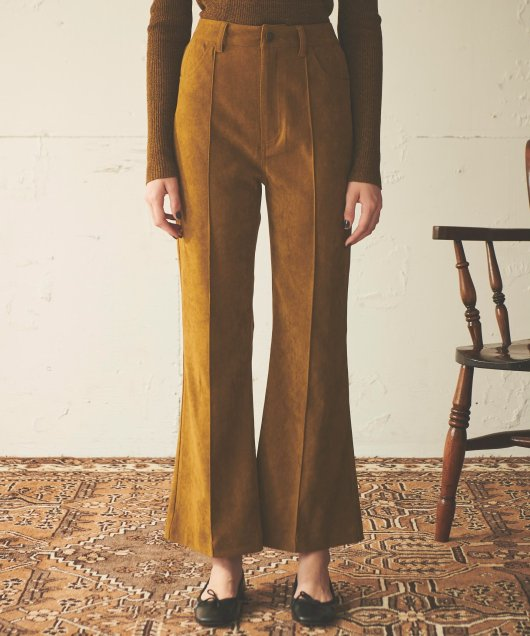 Brushed Twill Flare Pants