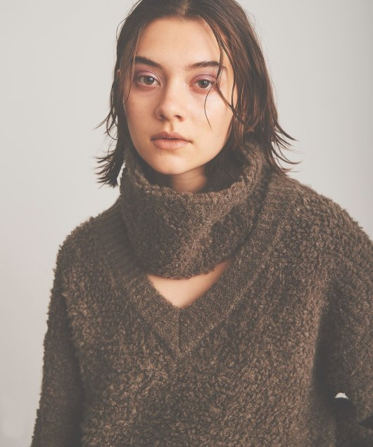 Snood Loop Knit Tops