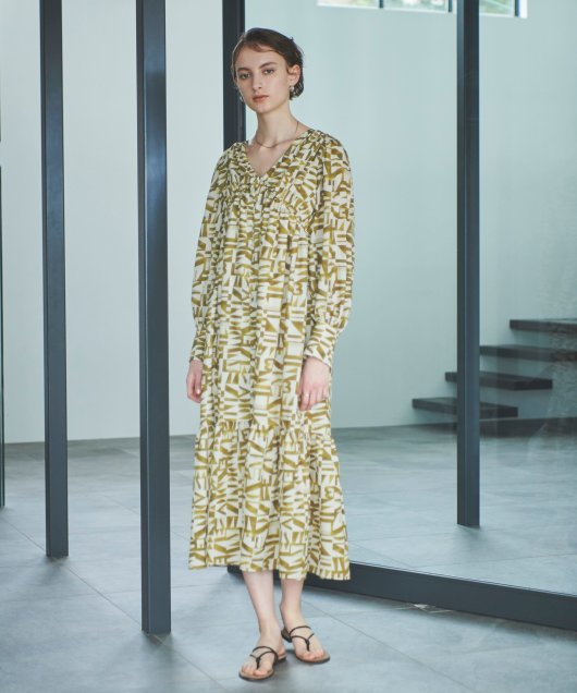 Geometric Typography Dress