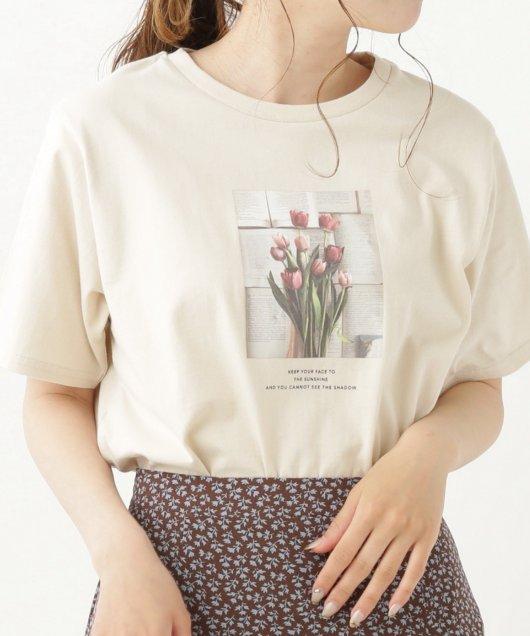 チューリップINK英字Tシャツ