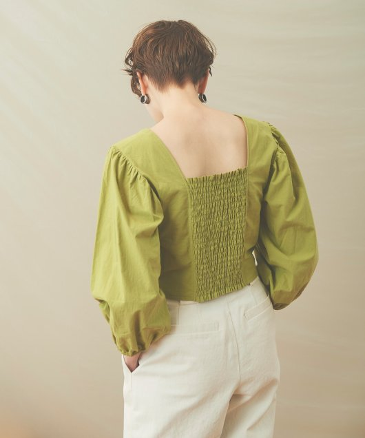 Back Shirring Blouse