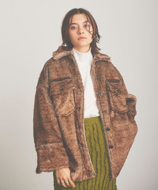 Eco Fur CPO Coat