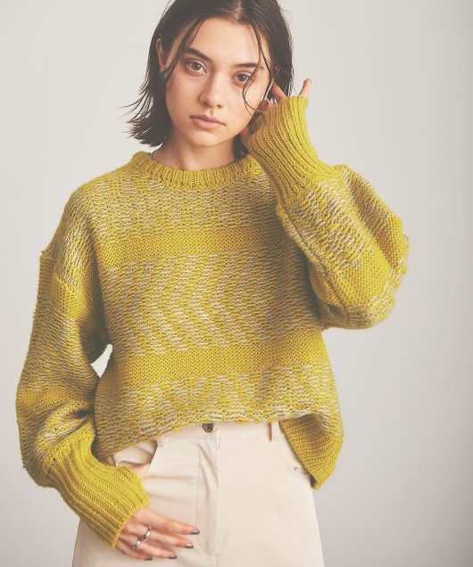 Jacquard Knit Tops
